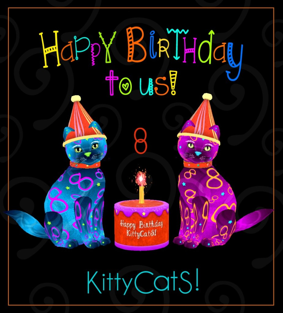 KITTYCATS 8TH BDAY POSTER