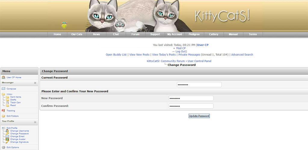 Resetting Your KittyCatS Password